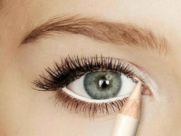 bc5027a9283 Use white eyeliner on your lower lash waterline, and then also white liner  with a