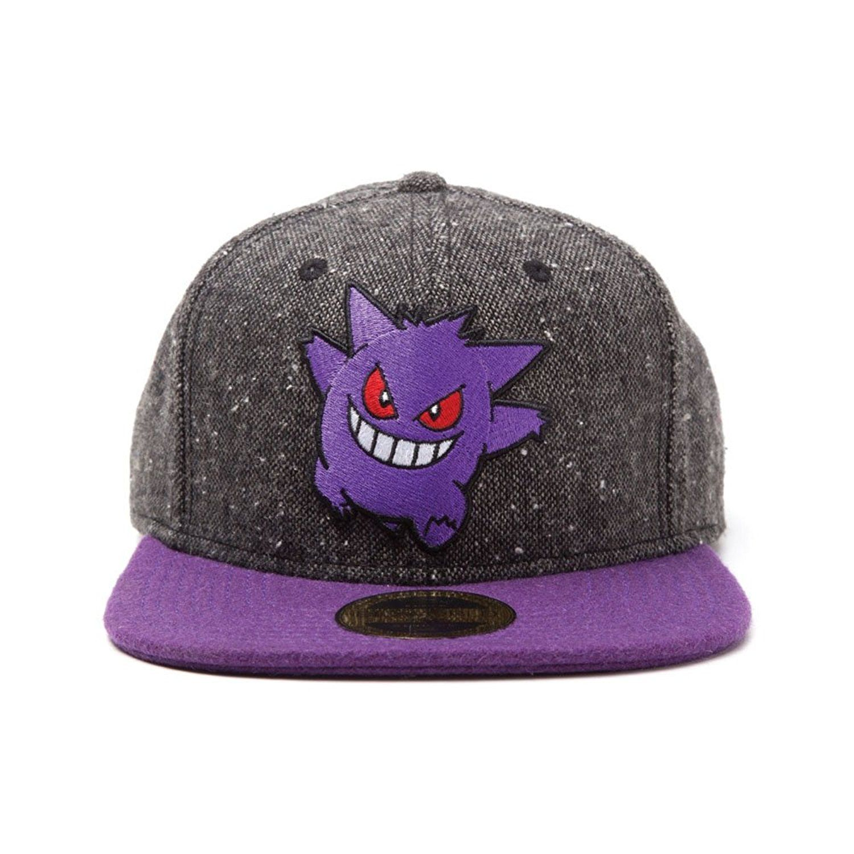 dc3bc06b80e Meroncourt Unisex Pokemon Gengar Character Snapback Dark Grey Purple  Baseball Cap