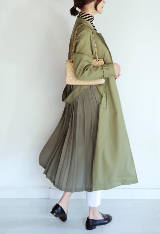 Chiffon Pleated Back Trench Coat Usd123 Persian Fashion Fashion Coat