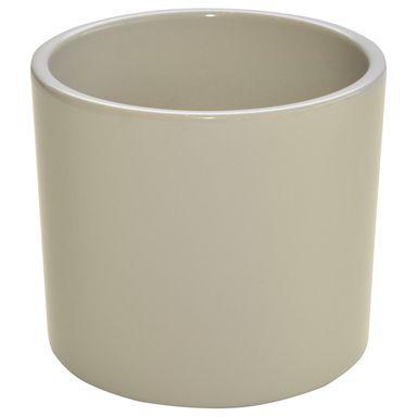 Osłonka Ceramiczna 17 Cm Beżowa Walec Ceramik Osłonki Na
