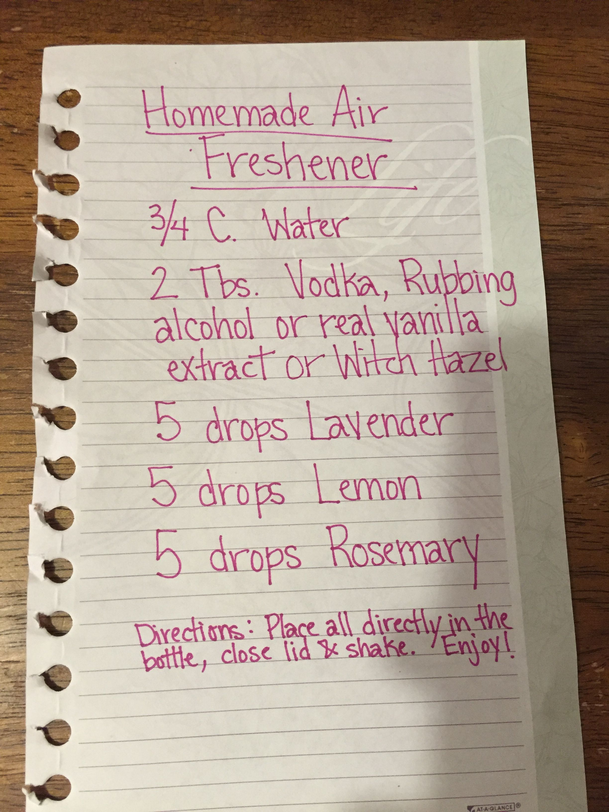 Pin by Amy Dutton on DōTERRA Homemade air freshener