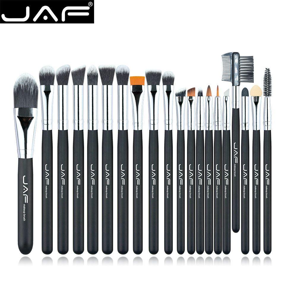 best price jaf brand 20 pcsset makeup brush professional foundation eye shadow blending cosmetics #eye #brush #set