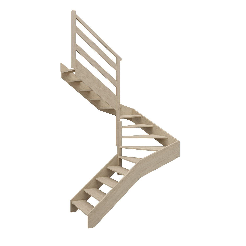 Escalier 2 4 Tournant Milieu Gauche Bois Hetre Soft Wood Scm 14 Mar Hetre L 90 Escalier 2 4 Tournant Bois Hetre Escalier