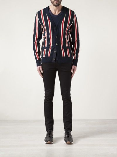 SACAI - striped cardigan 8