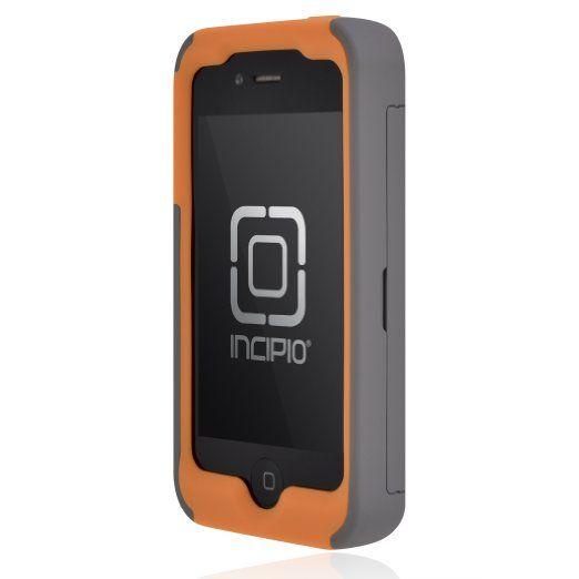 Amazon.com: Incipio IPH-678 Stowaway Credit Card Case for iPhone 4/4S - Retail Packaging - Dark Gray/Orange: Cell Phones & Accessories