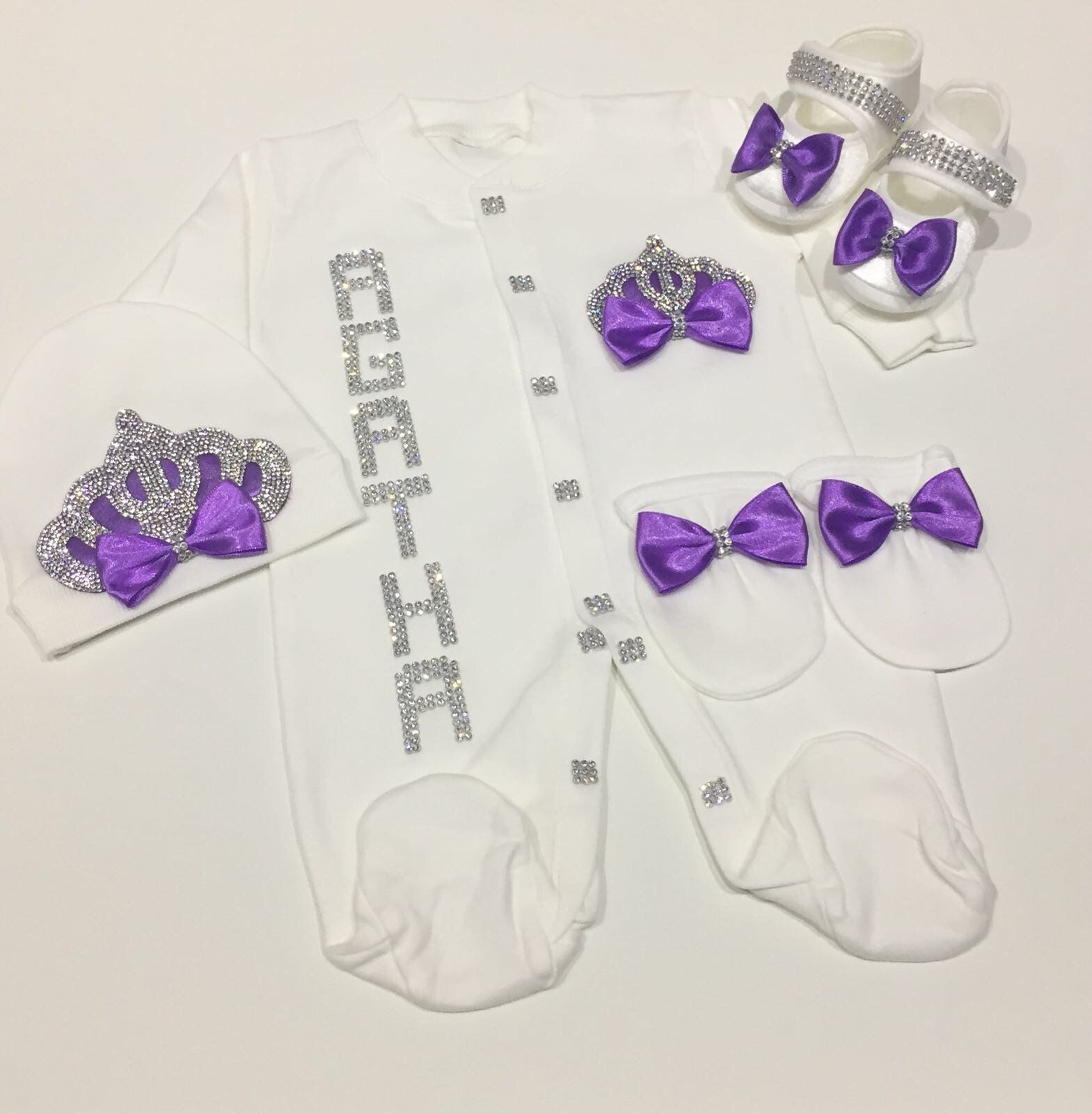4 Pieces Purple + Baby Name