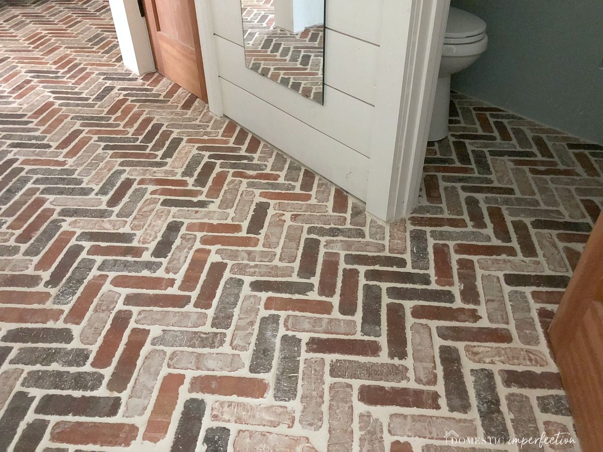 Herringbone Brick Paver Floor Brick Tiles Brick Ceramic Tile Brick Tiles Bathroom