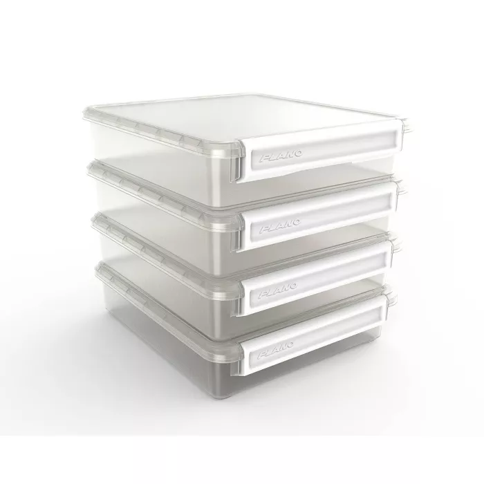 Plano Cubby Cube Storage Organizer 4 Stackable Fits 12 13 Cubed Furniture White Handle In 2020 Cube Storage Cube Storage Bins Rectangle Storage