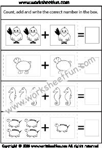 Картинка дополнение – суммы до 5 – один лист | Математика ...