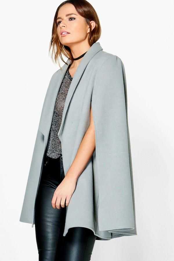 boohoo Vanessa Wool Look Cape | #Chic Only #Glamour Always