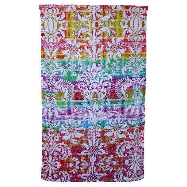 Rainbow Beach Towel Damask