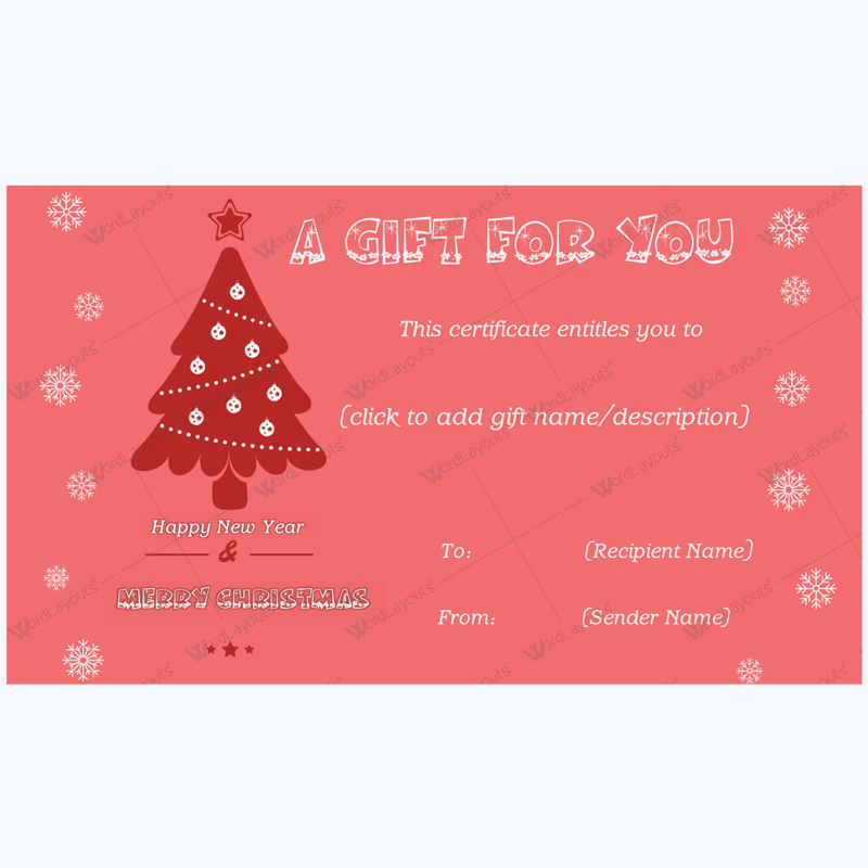 Christmas Gift Certificate Template 23 Pinterest Gift