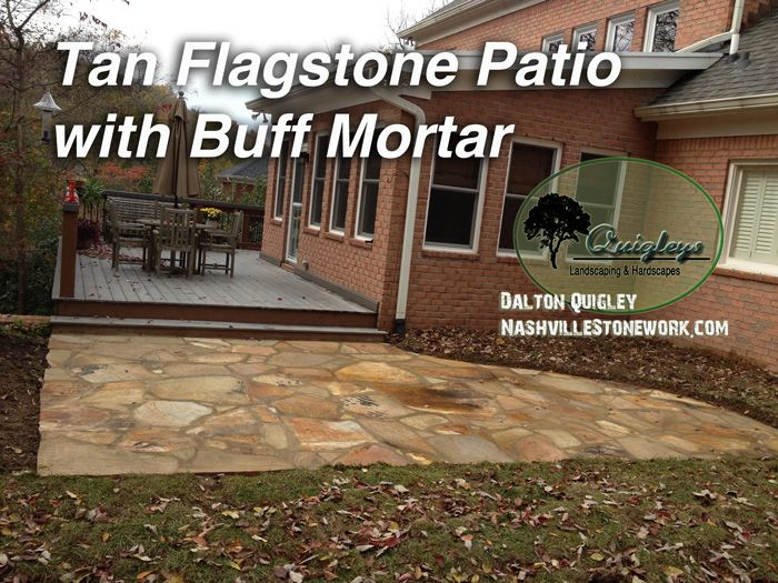 Tan Flagstone With Buff Mortar Patio Nashville TN
