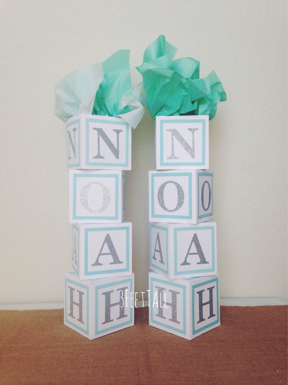 Baby Shower Centerpiece Alphabet Block Centerpiece By 3feettall