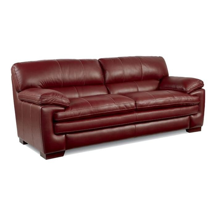 Dexter Leather Sofa In Rouge Nebraska Furniture Mart Leather