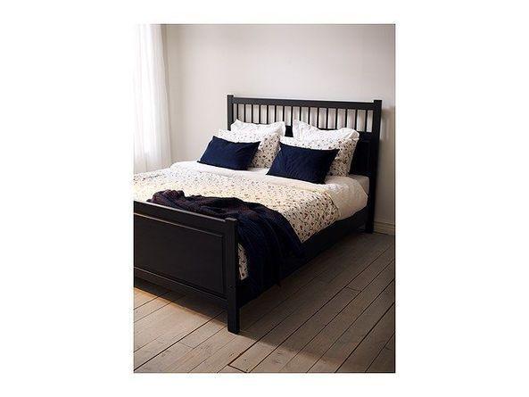 Hemnes Ikea Bed Finley Let s paint our bed black and Hemnes night stands  black too. hemnes bedroom   Home Design   Bedrooms   Pinterest   HEMNES