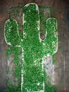Prickly Cactus made from rice dyed with green food coloring. I\'m ...