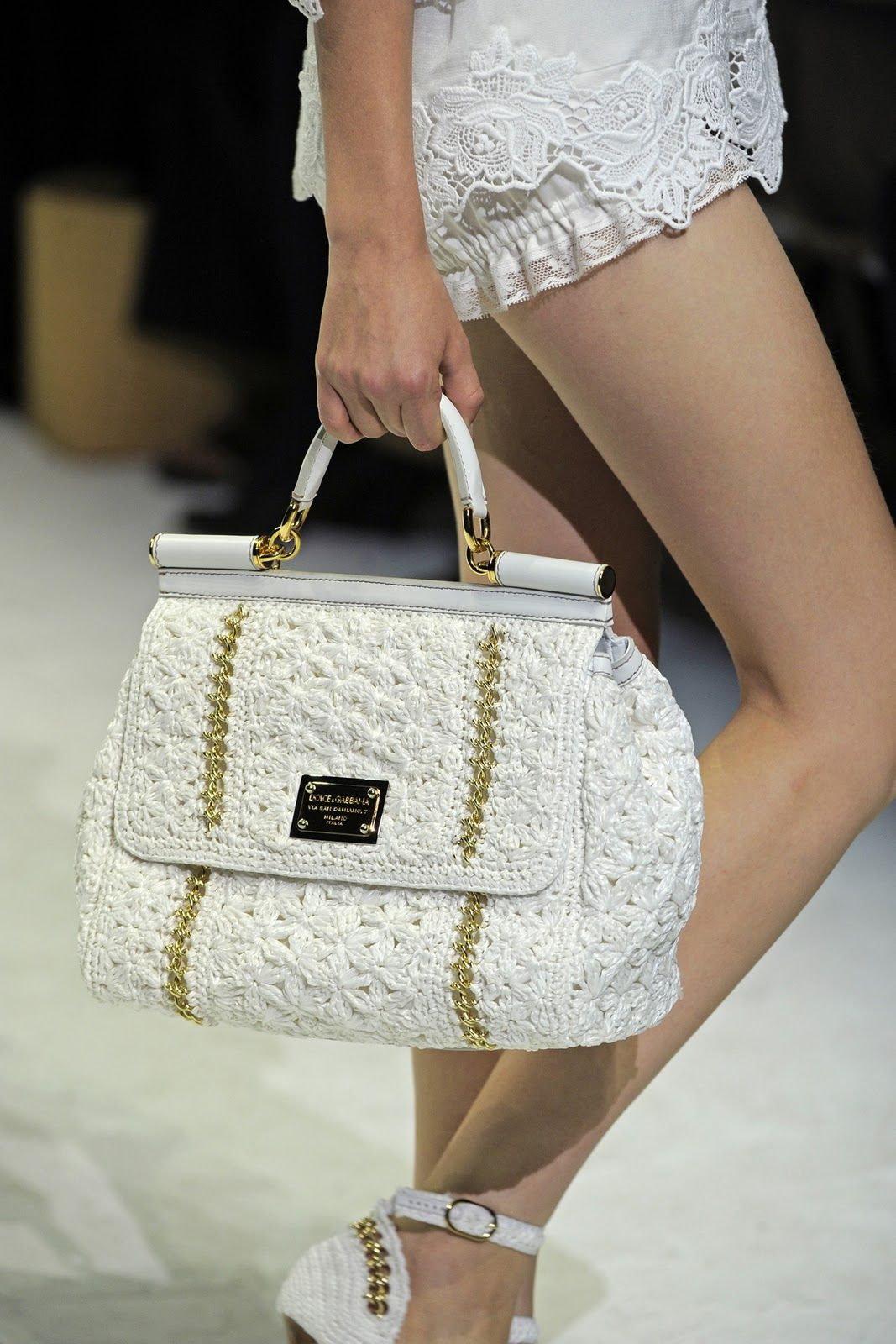 Dolce & Gabbana, Spring Summer 2011. Crocheted Handbag