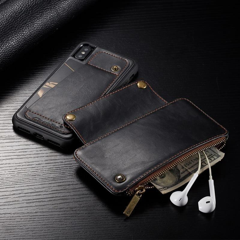 New CaseMe Detachable Luxury Leather Flip Wallet Case For iPhone 6, 6 Plus, 6S, 6S Plus, 7, 7 Plus, 8, 8 Plus, X, XR, XS, XS Max, 11, 11 Pro, 11 Pro Max, SE 2020