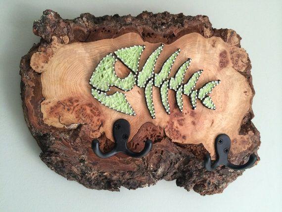 Glowing Skeleton Fish String Art Key Hanger | Pinterest | Skeletons ...