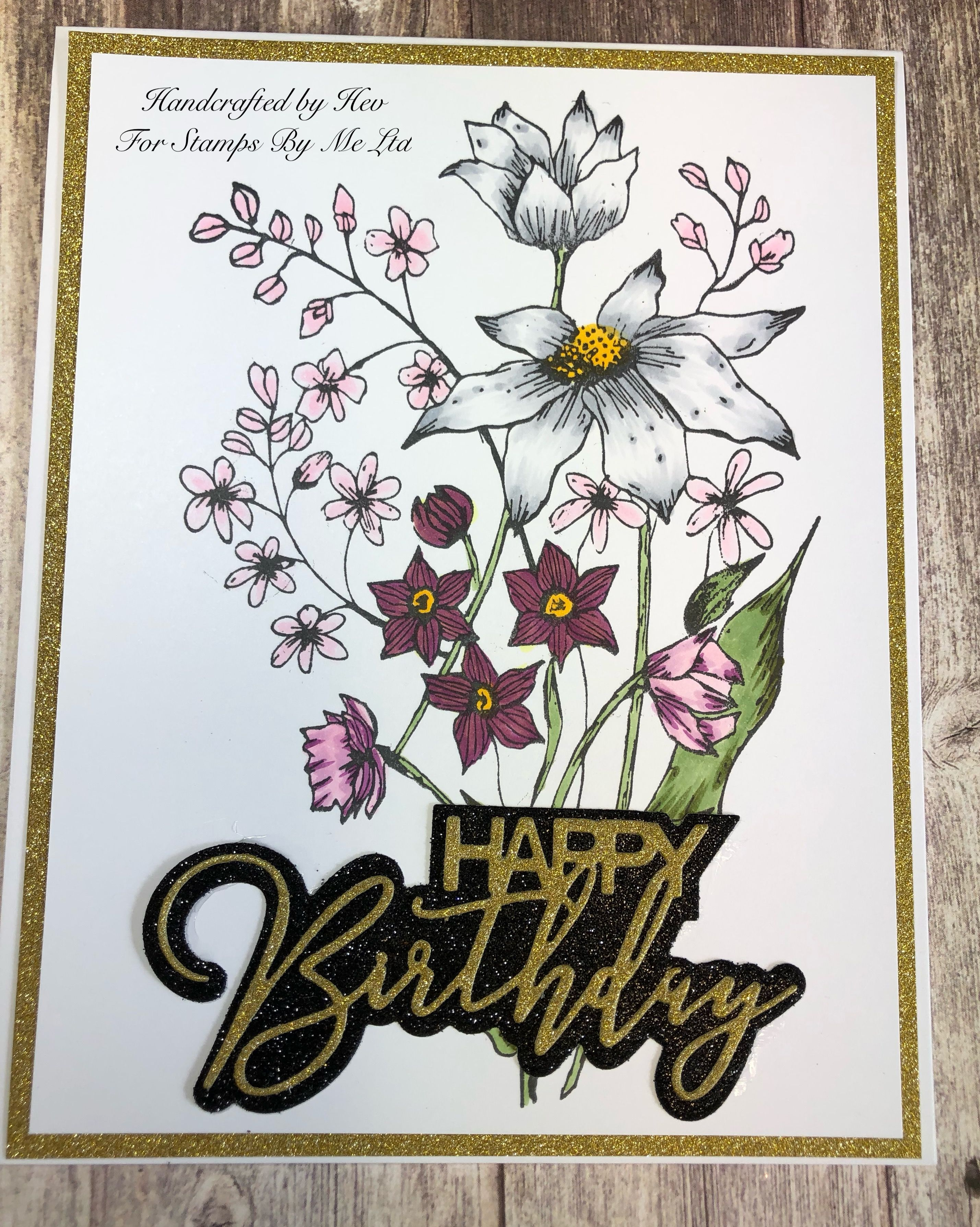 Coloured with copic markers stamped cards create and