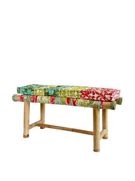 Bamboo Bench With Cushion, Retro, http://www.myhabit.com/redirect/ref=qd_sw_dp_pi_li?url=http%3A%2F%2Fwww.myhabit.com%2Fdp%2FB00K3JUPOY