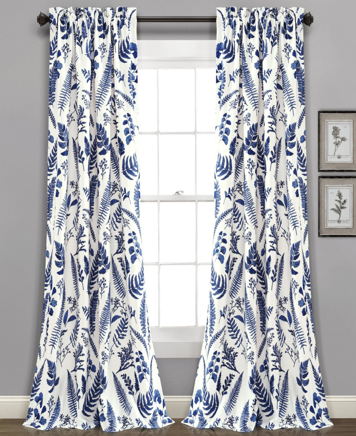 Lush Decor Devonia Botanical Print 52 X 84 Curtain Set Reviews