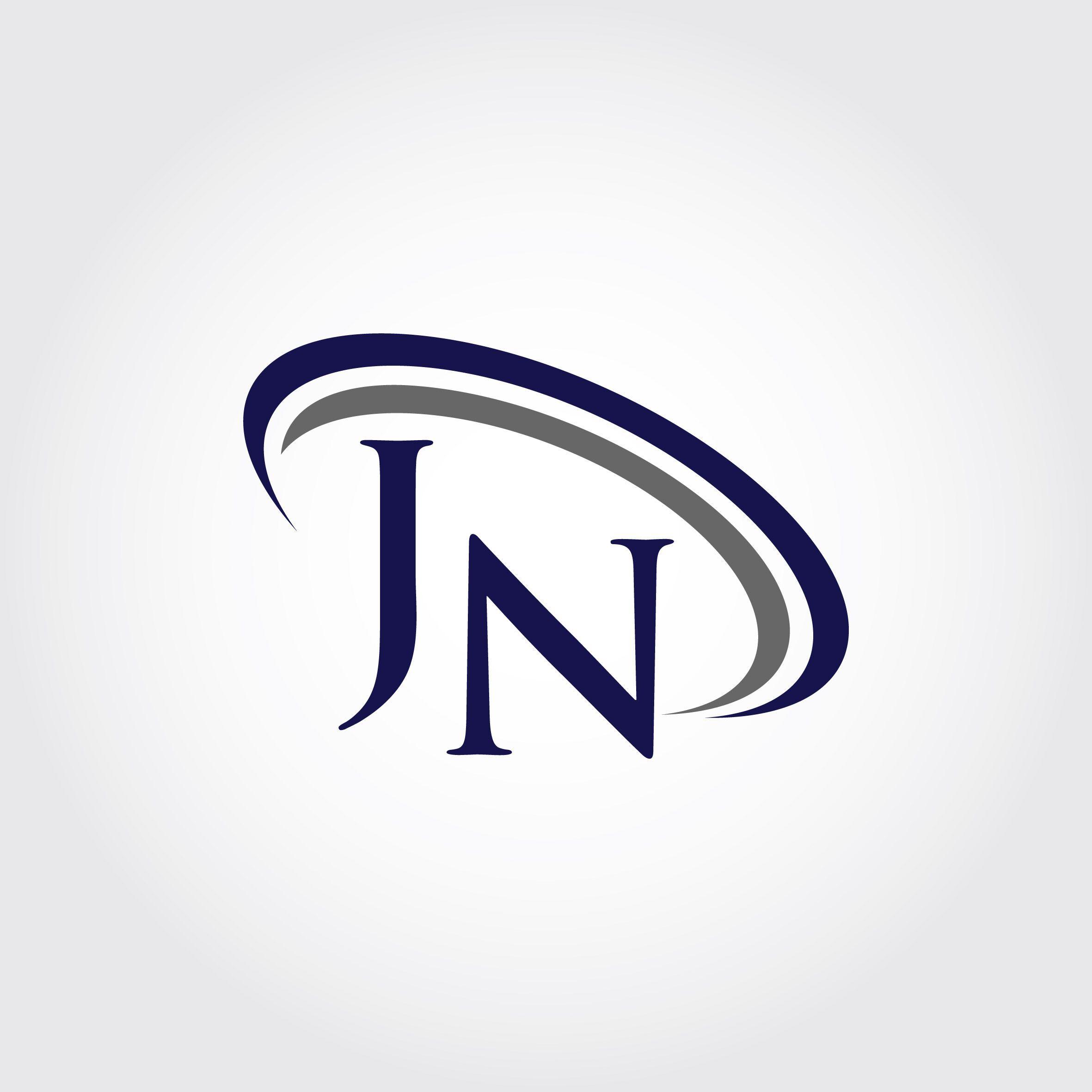 Monogram Jn Logo Design By Vectorseller Thehungryjpeg Com Logo Design N Logo Design Logos