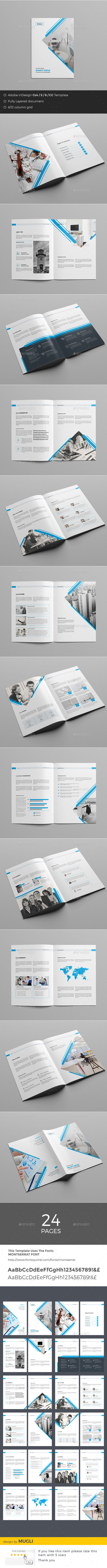 Business Brochure — InDesign Template #minimal #clean • Only ...