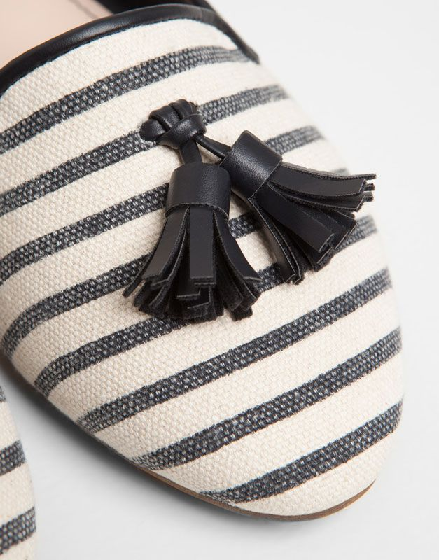 Stripe Print Loafers