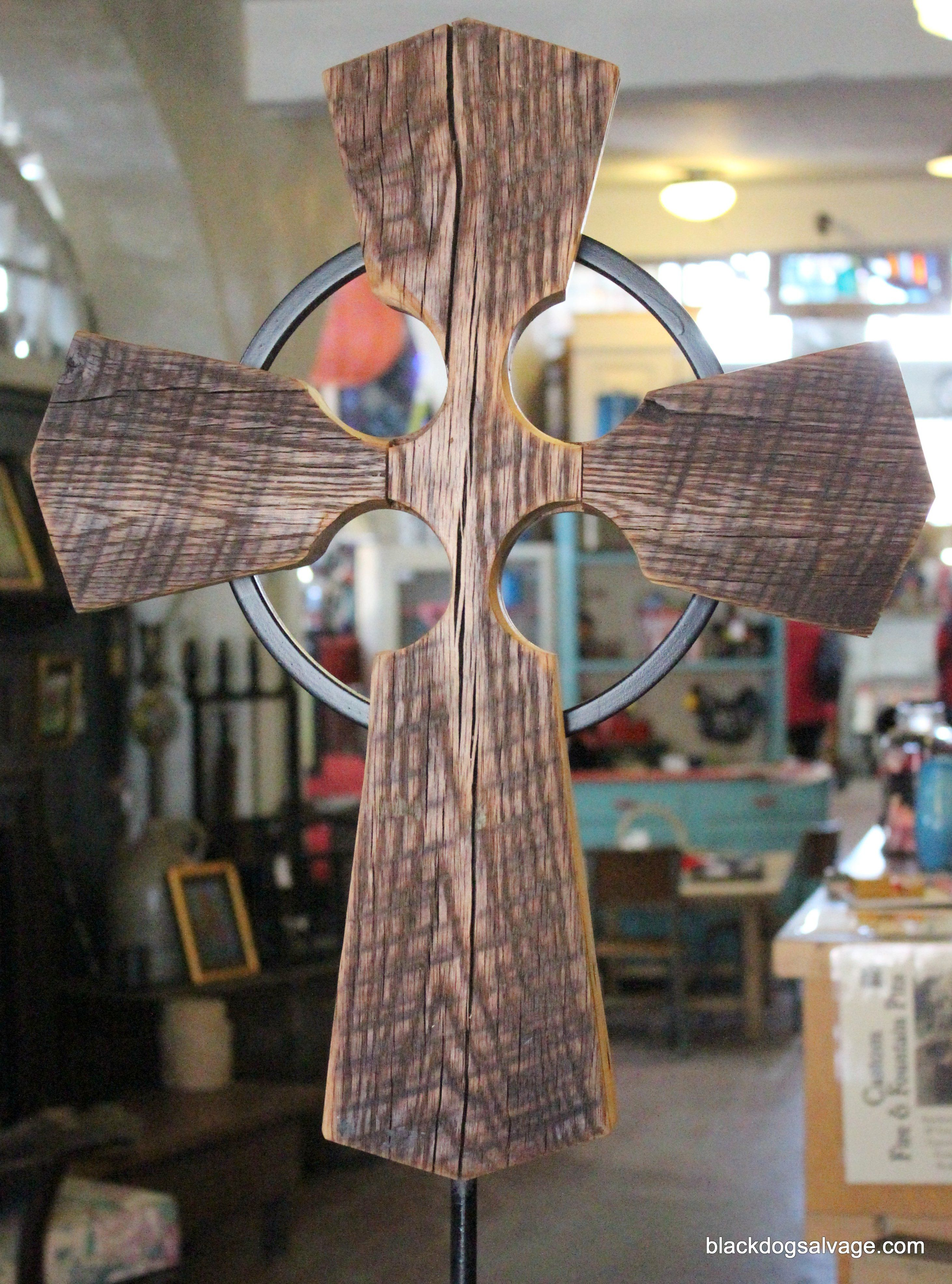Mike carved this beautiful cross out of salvaged wood from the original spires of St. Andrew's Catholic Church in Roanoke, Virginia. It will be auctioned off at Roanoke Catholic School's St. Patrick's Day dinner on Saturday to fund student scholarships!