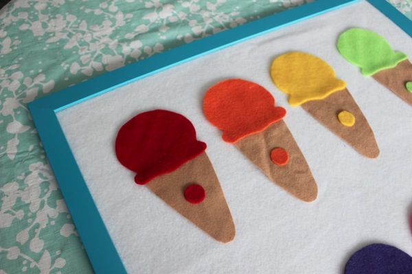 DIY Felt Board {and an Ice Cream Colour Matching Game} - Mama.Papa.Bubba.