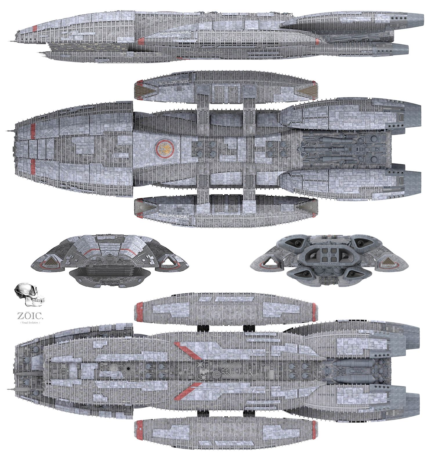Zoic cgi model of battlestar galactica