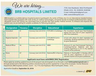BRB Hospital Job Circular 2018   Job Circular   Hospital jobs, Job