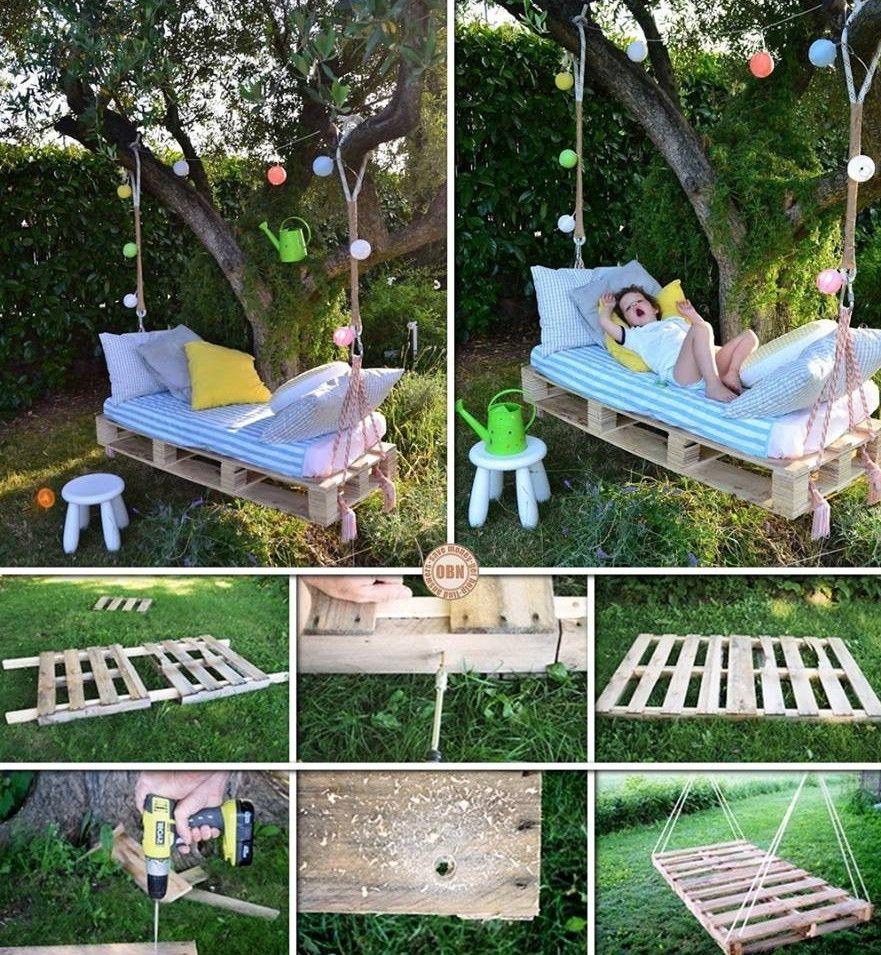 Pallet patio swing -  14 Diy Pallet