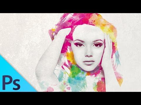 Watercolor Girl Multiple Exposure Effect Photoshop Tutorial