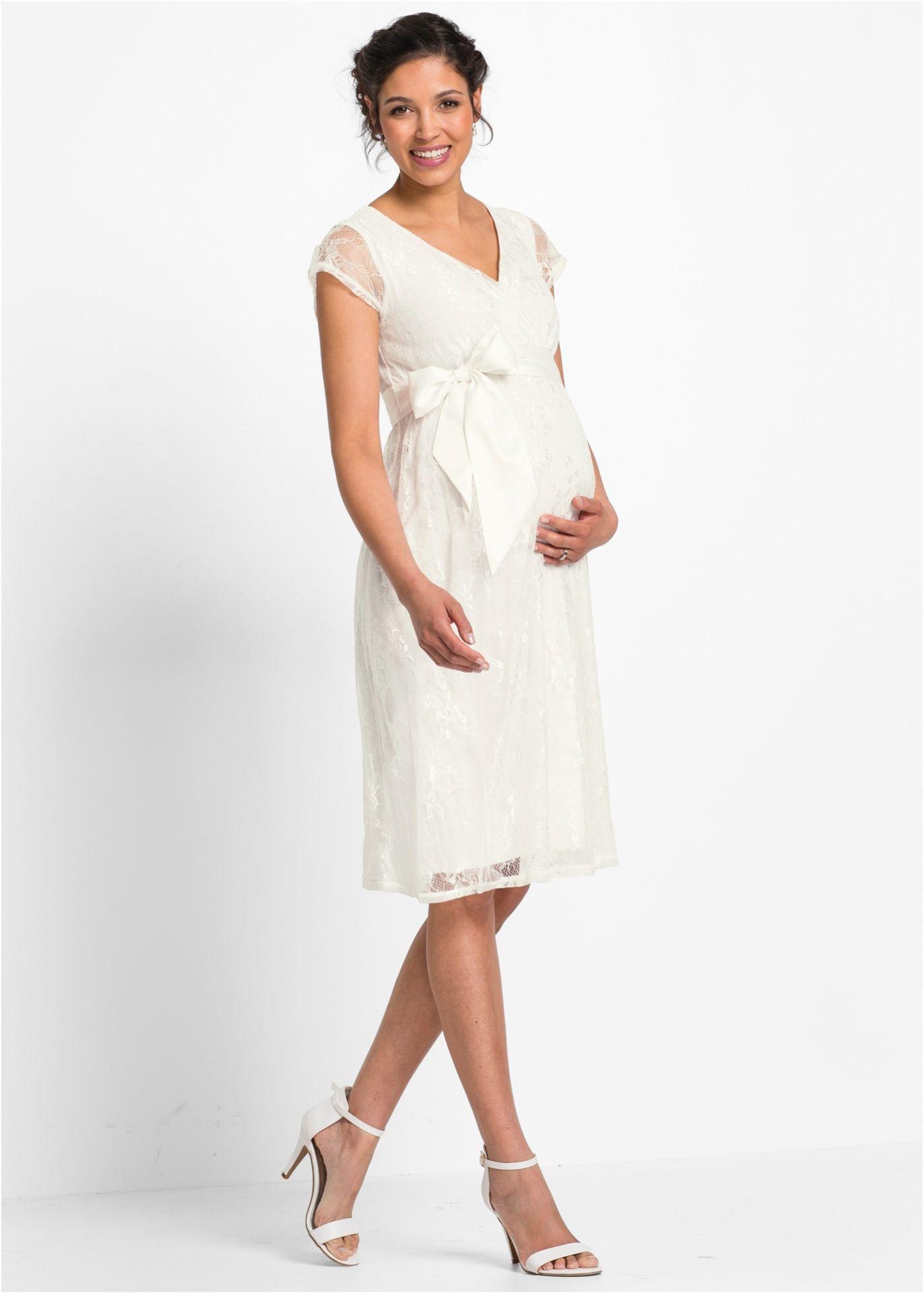 Festliches Umstandskleid wollweiß jetzt im Online Shop von bonprix