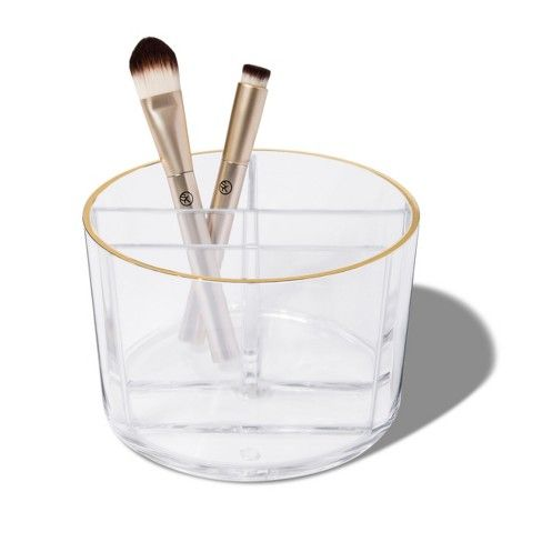 sonia kashuk cylinder makeup brush cup  clear  target