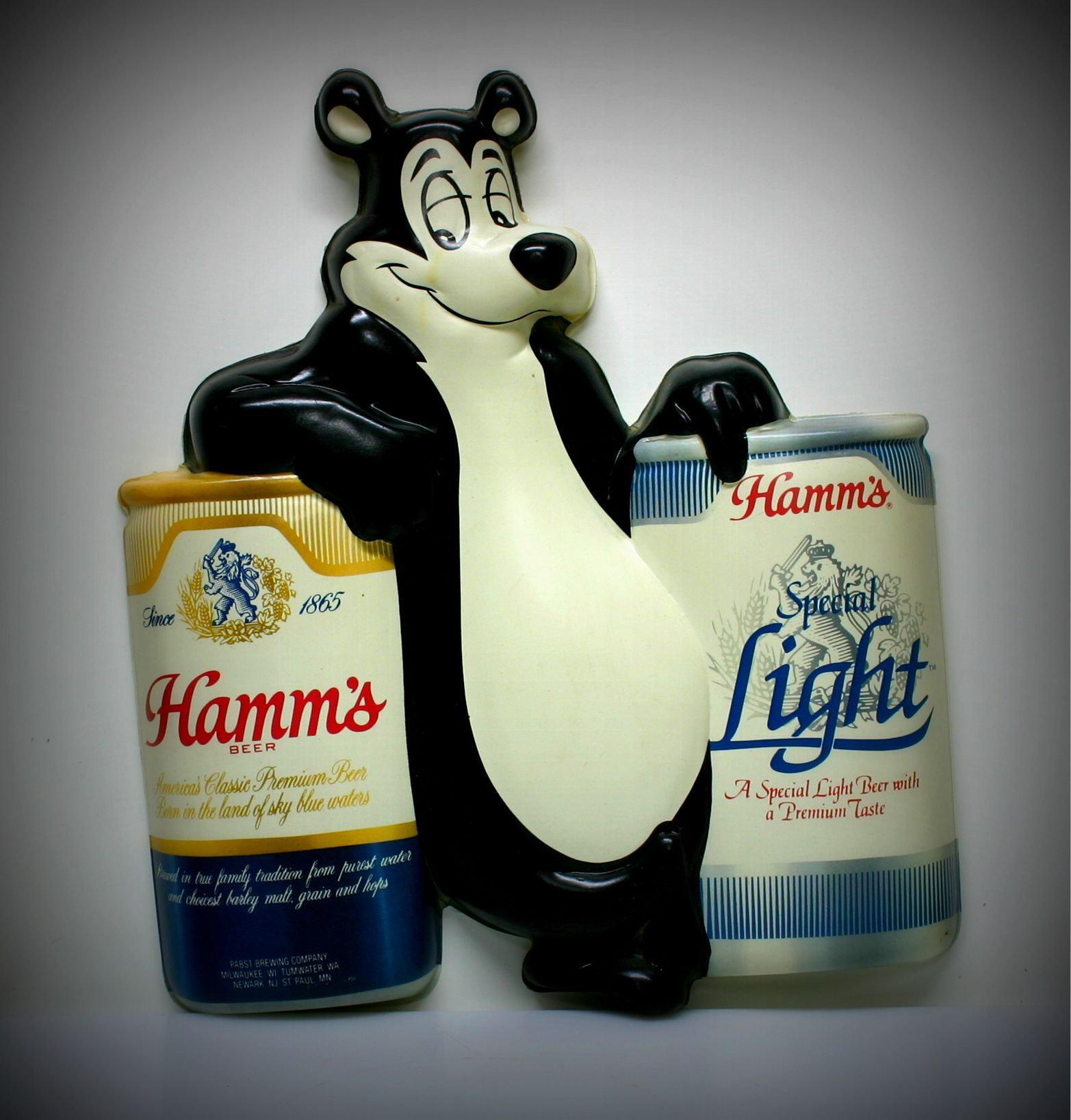 Hamm's Beer Bear, (Sascha) vacuform sign.