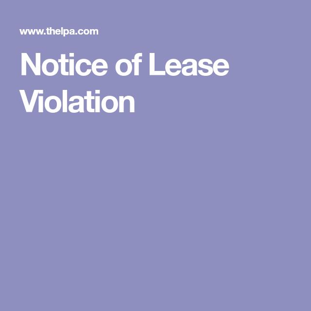 notice of lease violation florida legal pinterest