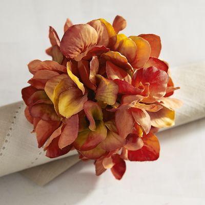 Sunset Hydrangea Flower Napkin Ring