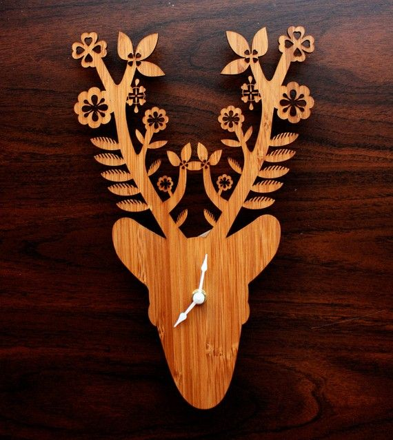 Delightful Deer clock by Benign Objects. Delighting my living room in the near future.