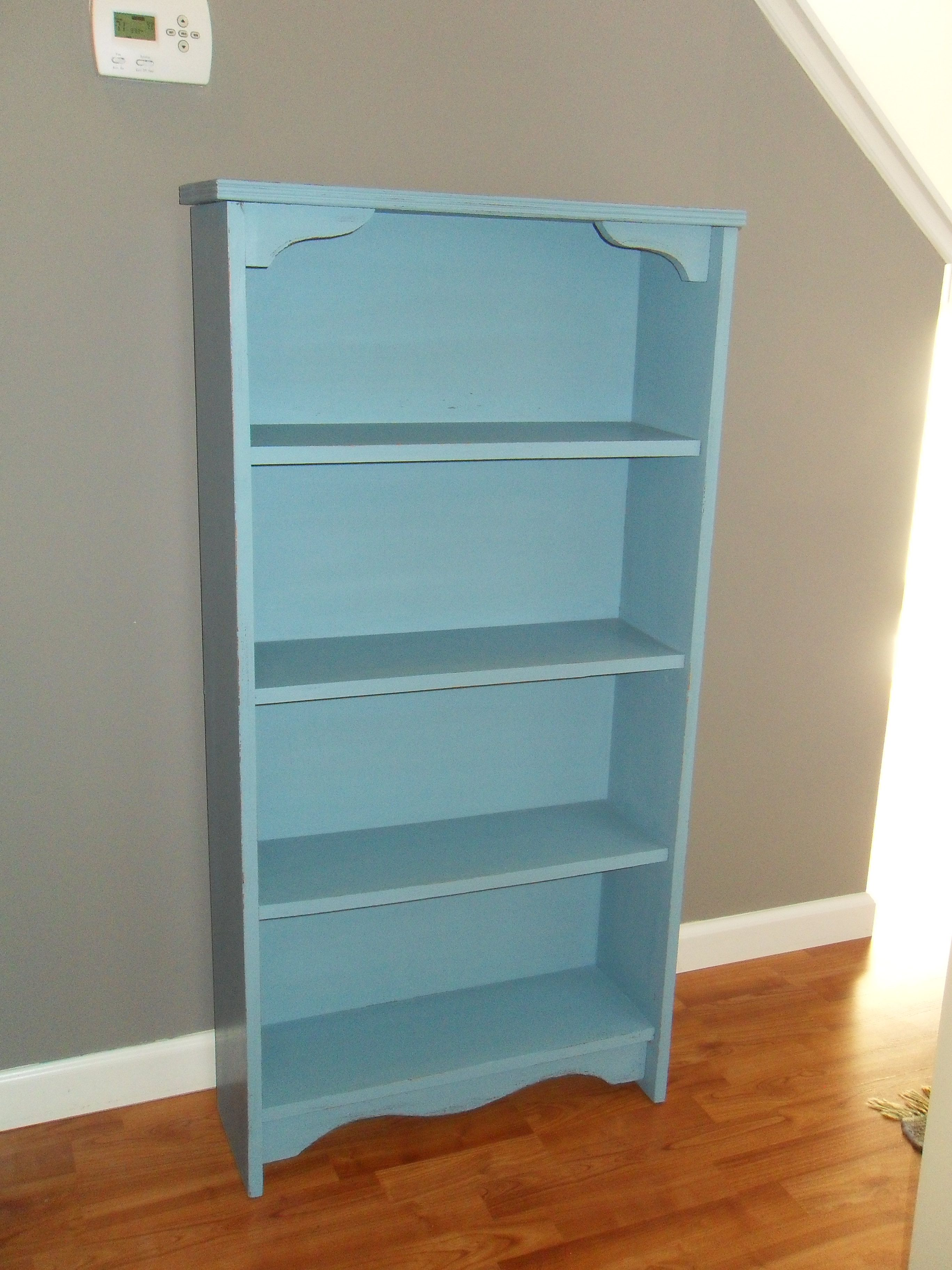 General Finishes Halcyon Blue bookcase