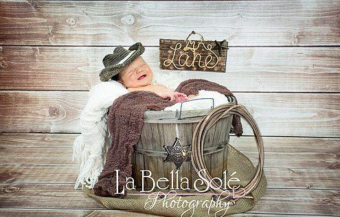 Cowboy Newborn : Like us on FB www.facebook.com/labellasolephotos
