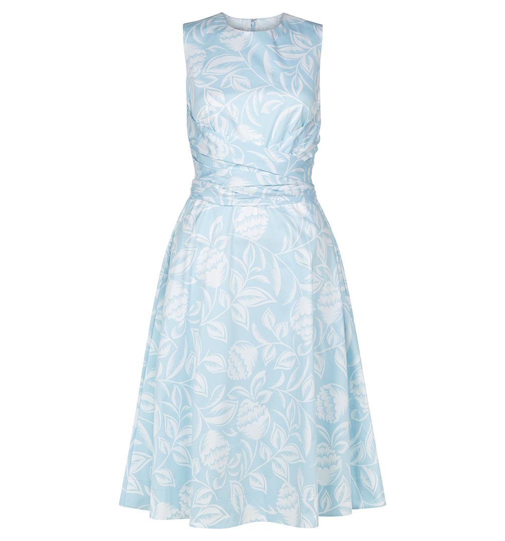 Hobbs pale blue race day dresses wedding guest outfits Twitchill ...
