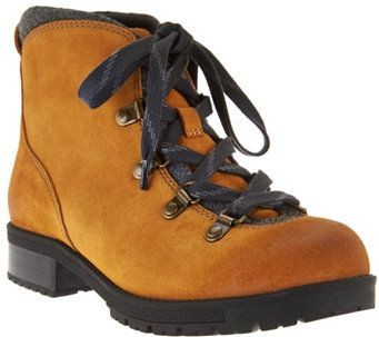 541b28cf571 Clarks Leather Water Resistant Hiking Boots - Faralyn Alpha ...