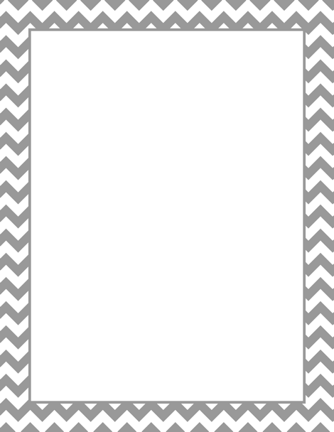 Printable rainbow chevron stationery and writing paper Multiple – Bordered Paper Printable
