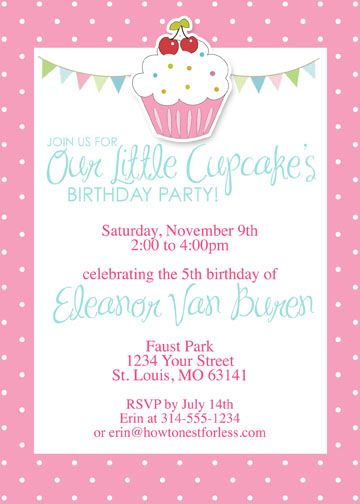Cupcake themed birthday party with free printables themed birthday cupcake themed birthday party free printables includes invitation banner placecards cupcake toppers filmwisefo Gallery