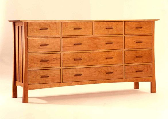 Custom Made 10 Drawer Wide Dresser By Vermont Furniture Designs Wide Dresser Custom Dresser Fine Furniture Design