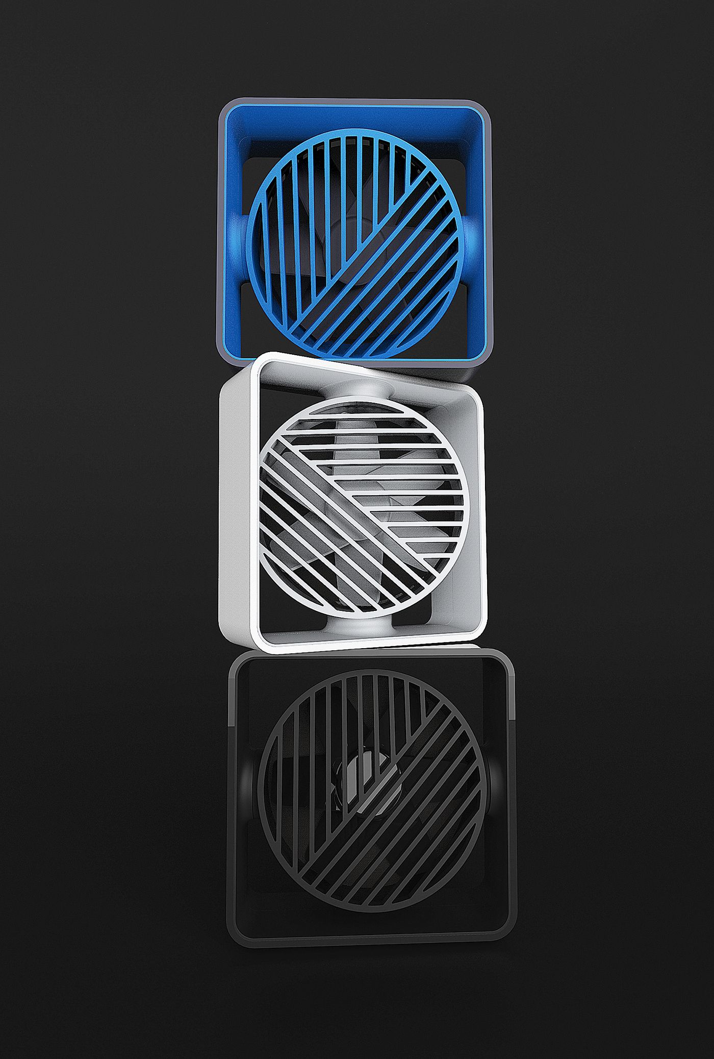 Articulating USB powered desk fan.